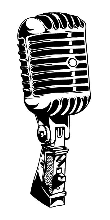 Classic Microphone Clipart