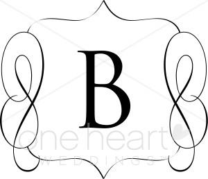 Classic Monogram B Clipart