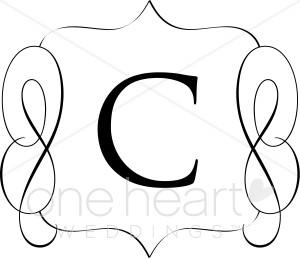 Classic Monogram C Clipart
