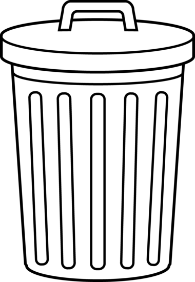 73 Clipart Trash Can Clipartlook