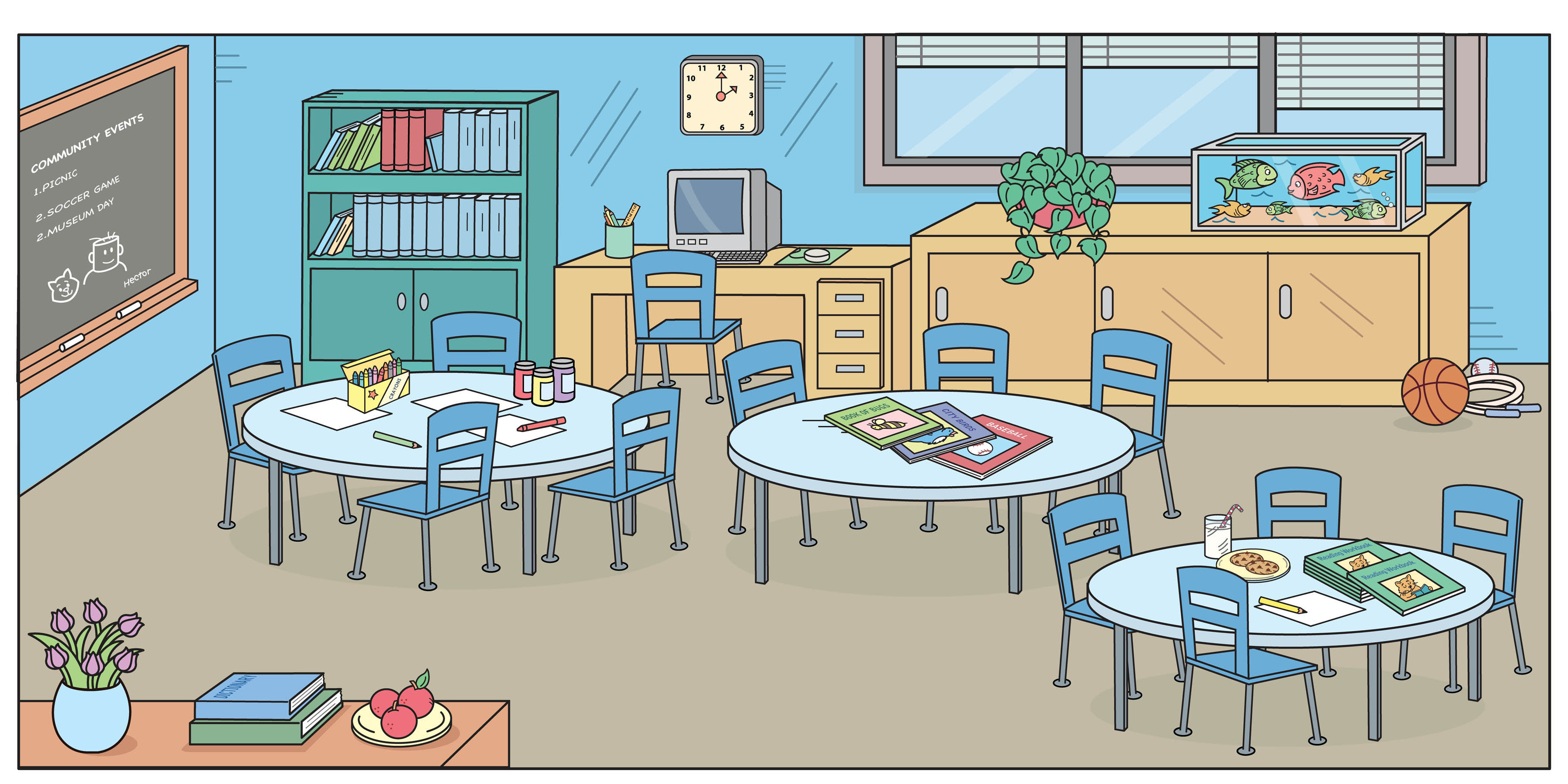 Classroom art. Clip look at images