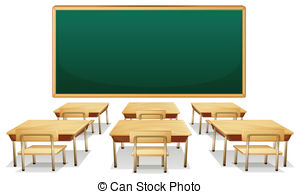 ... Classroom - Illustration of an empty classroom
