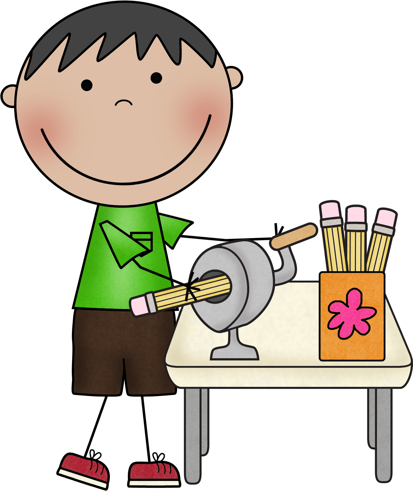 Classroom Pencil Sharpener . Teacher Helper Clip Art