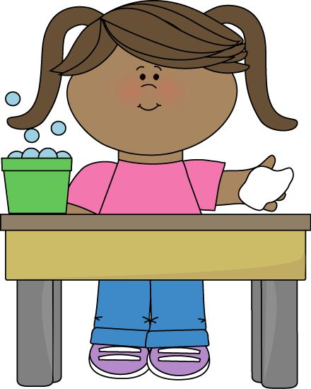 Classroom Table Washer Clip Art - Classroom Table Washer Vector Image