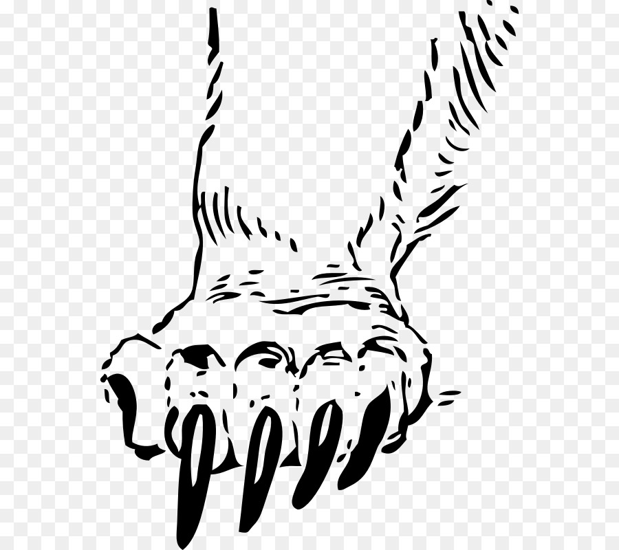 Bear Claw Tiger Paw Clip Art - Hand-draw-Bear claw Tiger Paw Clip art - hand-drawn clipart-13