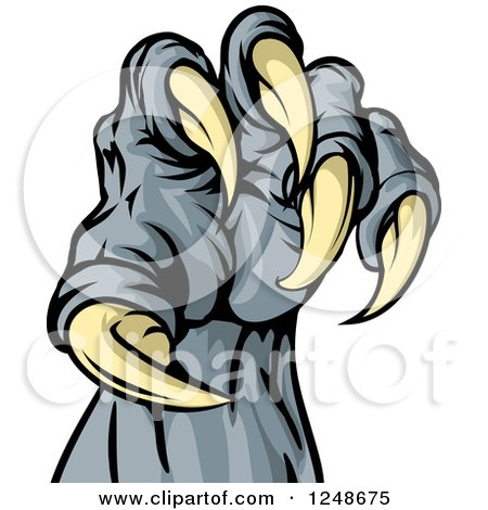 Clipart Of A Monster Claw With Sharp Tal-Clipart of a Monster Claw with Sharp Talons - Royalty Free Vector  Illustration by AtStockIllustration-8