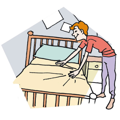 Clean Up Bedroom Clipart. mak - Make Bed Clip Art