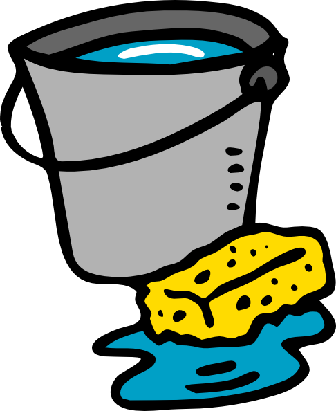 Cleaning Bucket Sponge Water Clip Art At Clker Com Vector Clip Art