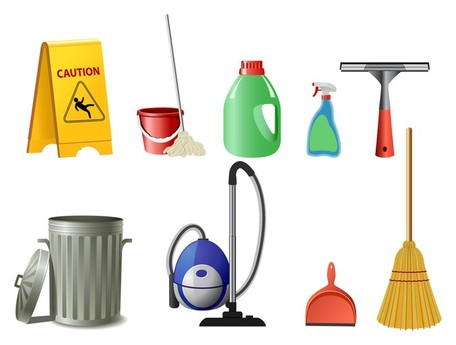cleaning supplies icon; fine cleaning icon