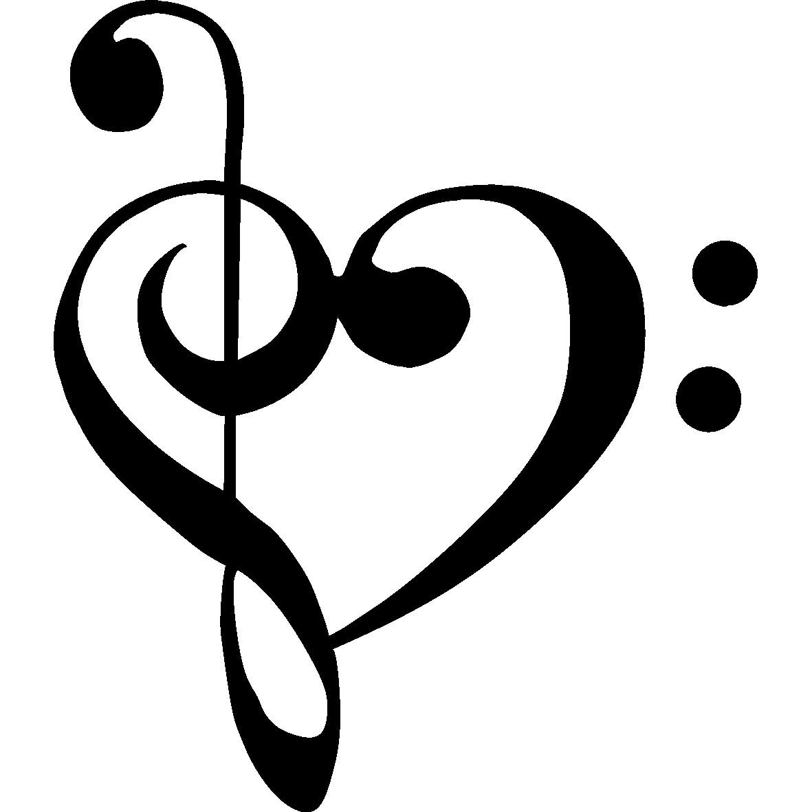 Treble Clef and Base Clef Heart❤❤❤❤