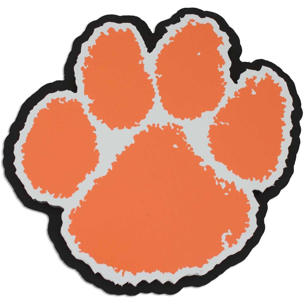... Clemson Tiger Paw Clip Art Picture ...