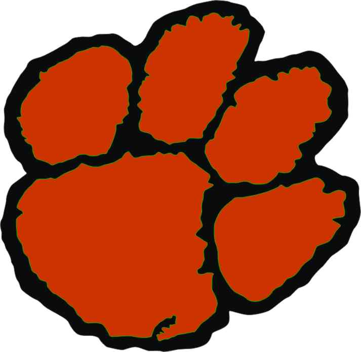 Clemson tiger paw clipart ...