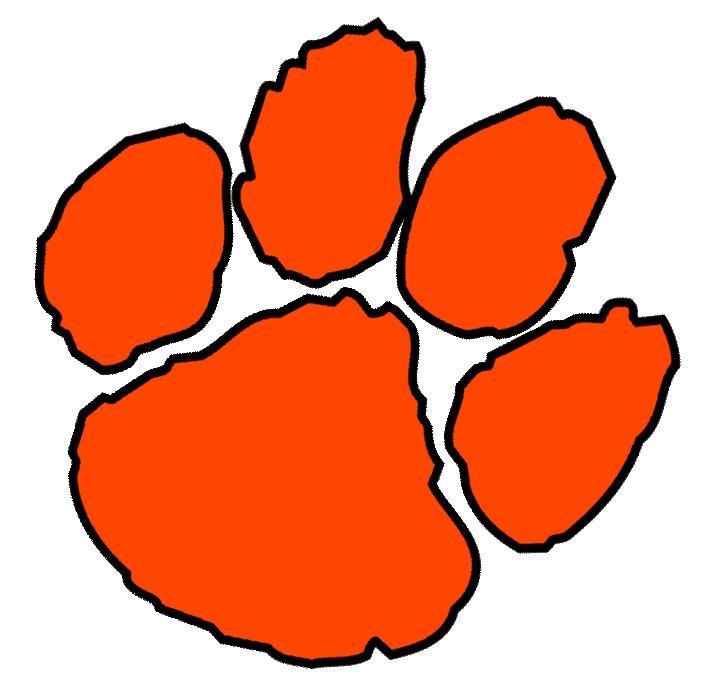... Clemson tiger paw clipart ...