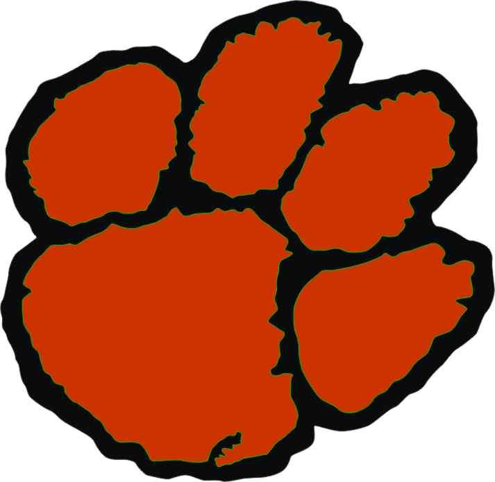 Clemson tiger paw clipart ...