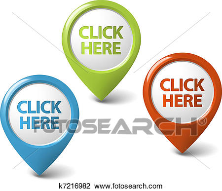 Click here clipart clipart of vector rou-Click here clipart clipart of vector round 3d click here pointer k7216982  search ideas-9