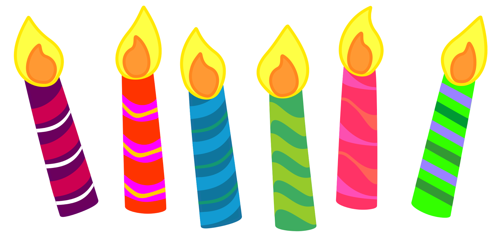 Click Here For Single Tier Ye - Birthday Candle Clipart