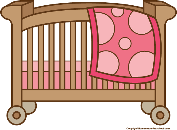 Click to Save Image - Baby Crib Clipart
