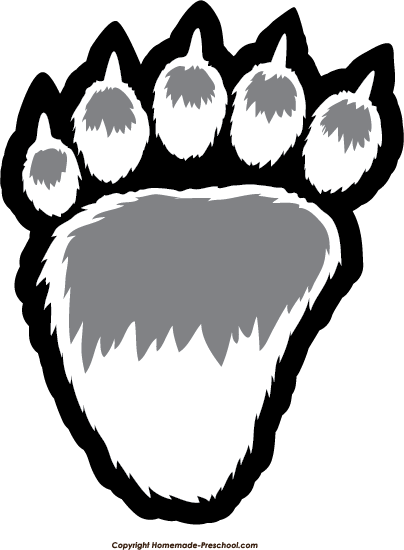 Click to Save Image. Bear Paw Prints
