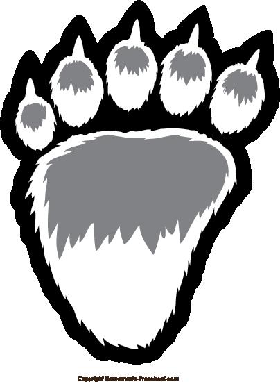 Click to Save Image. Bear Paw Prints
