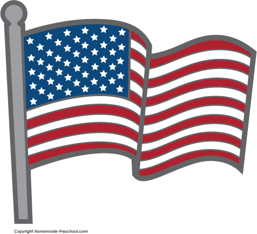 Click to Save Image - Clip Art American Flag