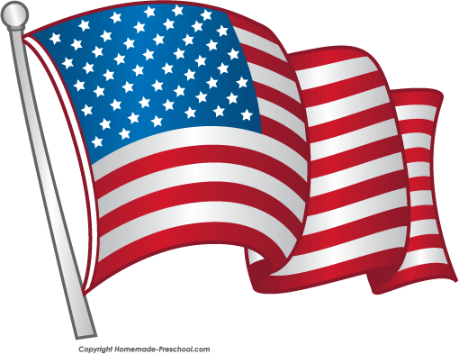 Click to Save Image - Free Clipart American Flag