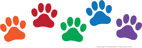Click to Save Image. Girl Paw Prints
