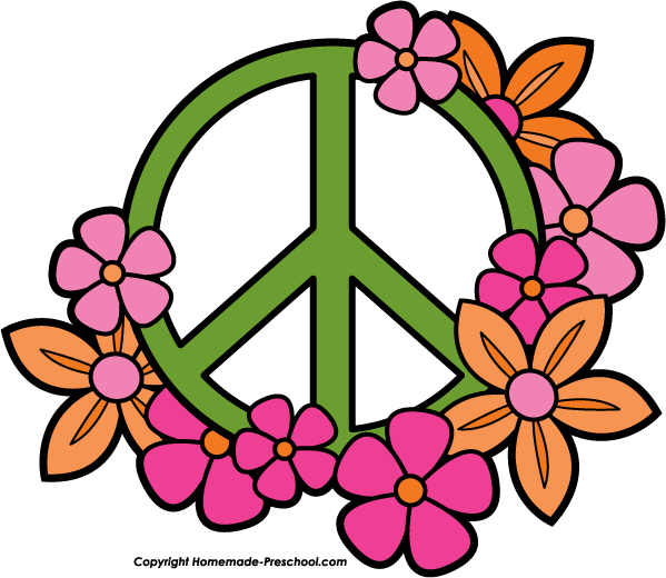 Click to Save Image - Peace Sign Clipart