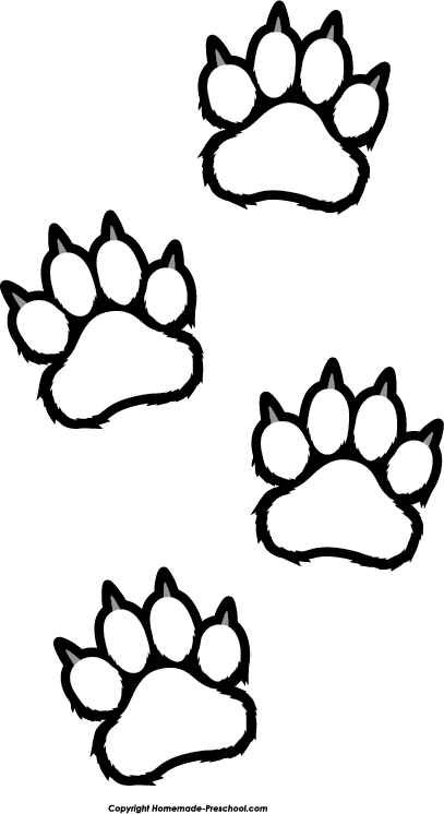 Click to Save Image - Tiger Paw Print Clip Art