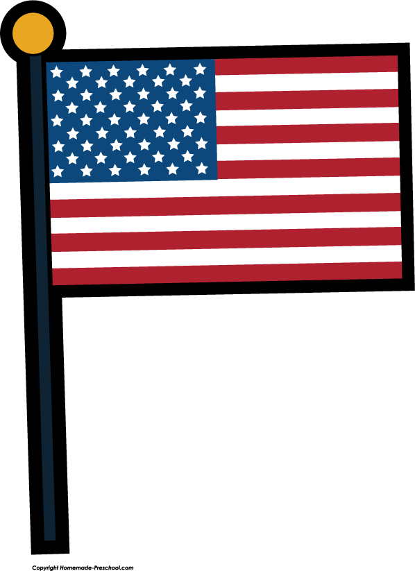 Click to Save Image - Usa Flag Clip Art