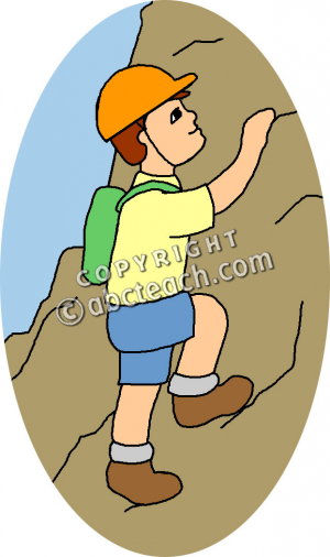 Climbing Mountain Clipart .