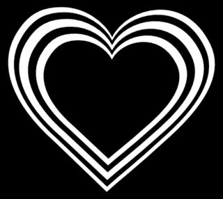 clip art black heart