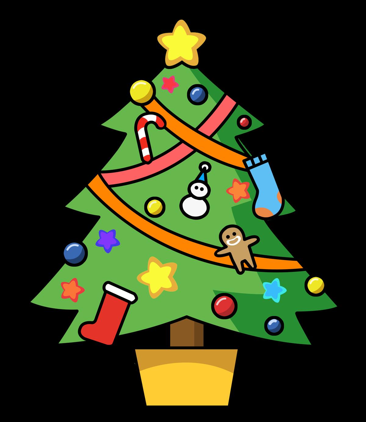 clip art christmas tree outline