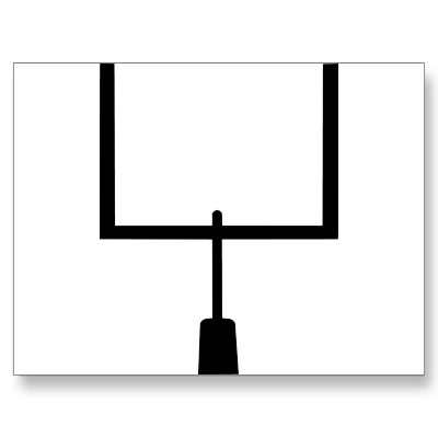 clip art football field goal