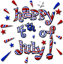 Clip Art 4th July American Independence Day Design Stock Clip Art
