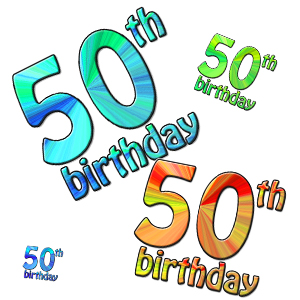 Clip Art 50th Birthday Clipart Best