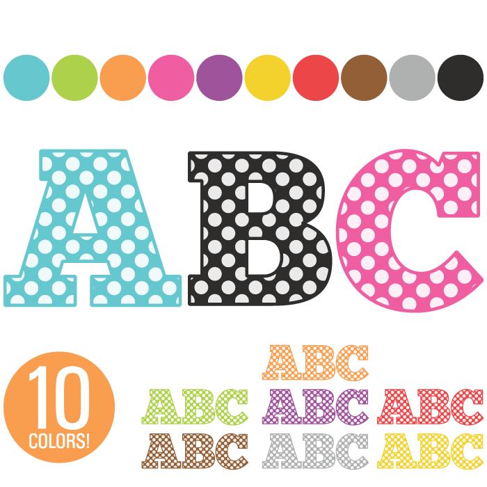 Clip Art Alphabet 260 Polka Dot Letters-Clip Art Alphabet 260 Polka Dot Letters-11