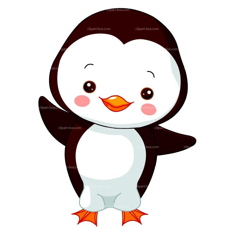 Clip Art And Cute Penguins .-Clip art and Cute penguins .-2
