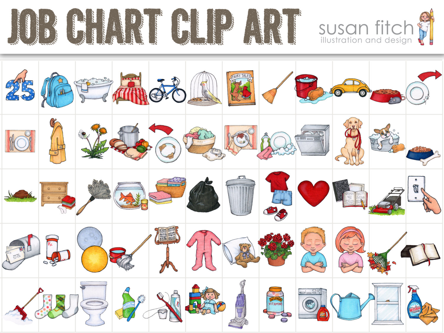 Clip Art And Toddler Chore .-Clip art and Toddler chore .-11