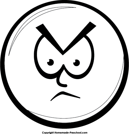 ... Clip Art Angry Mean Smiley Clipart; Angry girl face clipart ...