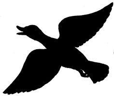 ... Clip Art, Art And Silhouette; Flying-... Clip art, Art and Silhouette; Flying Duck ...-1