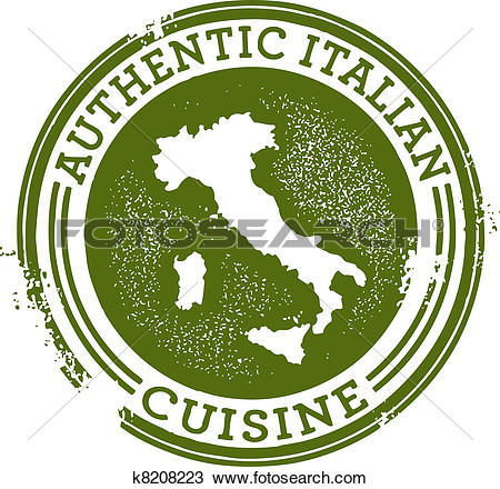 Clip Art. Authentic Italian Food