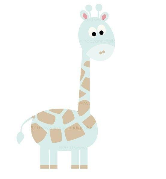 Clip Art Baby giraffe