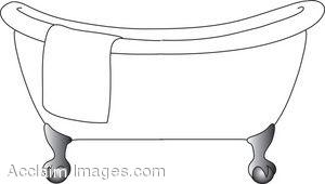 Clip Art Bathtub