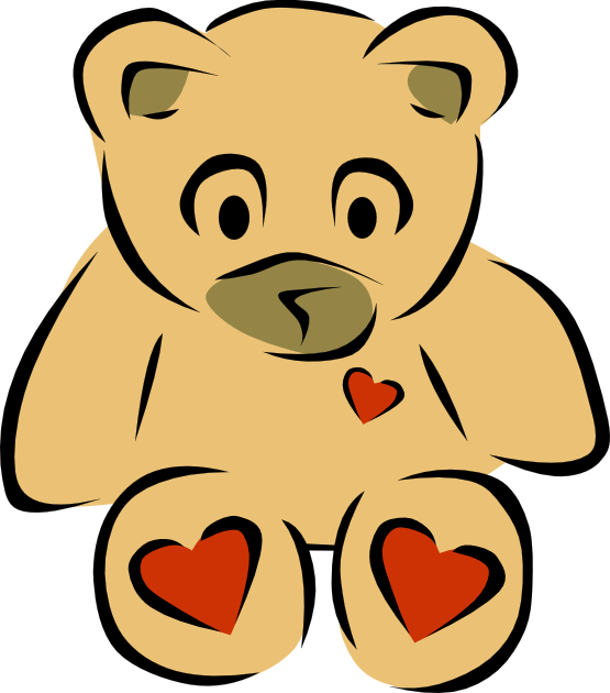 Clip Art Bear Heart 2 .