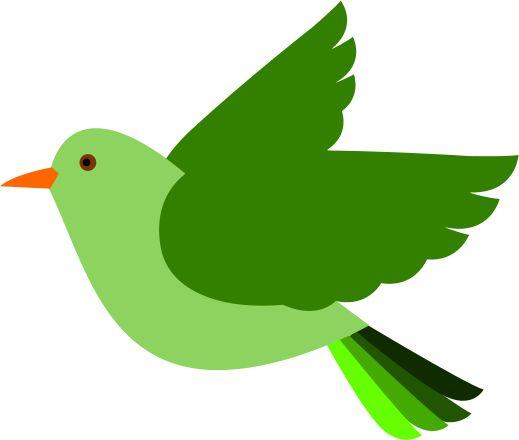 clip art bird green
