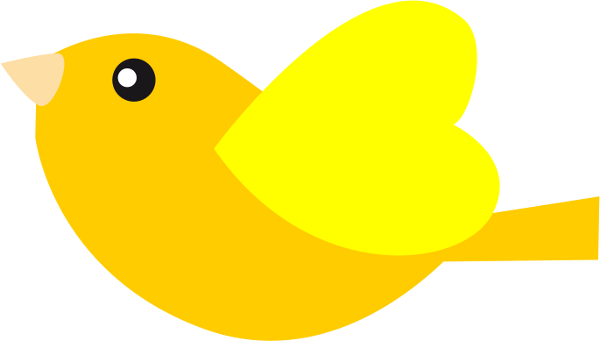 Clip Art Bird Yellow
