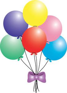 Clip art birthday balloons clipart