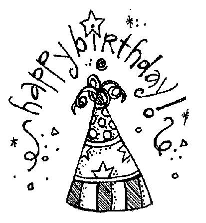 Clip Art Birthday Clip Art Black And White black and white birthday clipart free clipartsgram com