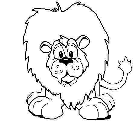 clip art black and white | Black and white lion clipart
