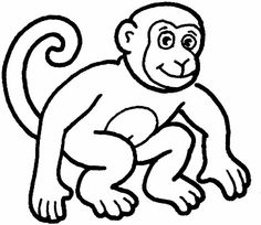 Clip art black and white . coloring pages | ANIMAL .
